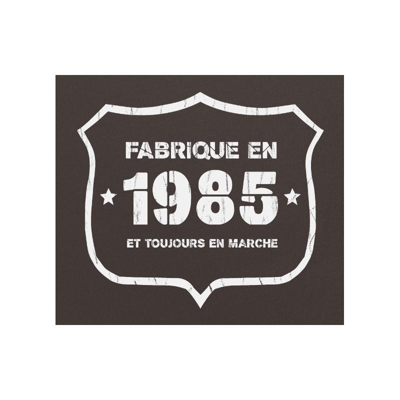 tee shirt fab 1985 coton bio cadeau d 39 anniversaire 30 ans femme. Black Bedroom Furniture Sets. Home Design Ideas