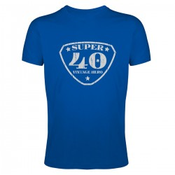 Tee shirt Super 40 Vintage Hero
