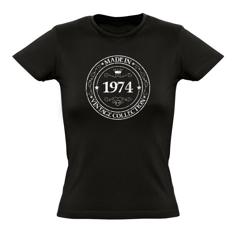 tee shirt made in 1974 coton bio femme. Black Bedroom Furniture Sets. Home Design Ideas