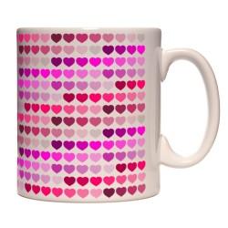 Mug coeurs roses multiples