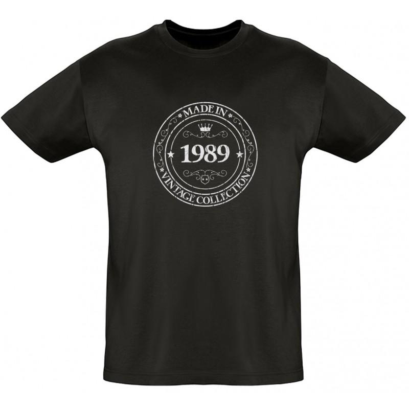 tee shirt made in 1989 coton bio homme lodafon. Black Bedroom Furniture Sets. Home Design Ideas