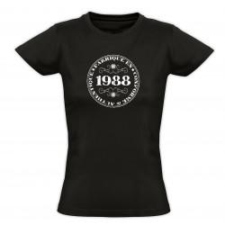 Tee shirt vintage - Fabriqué en 1988 Conforme & Authentique - Femme