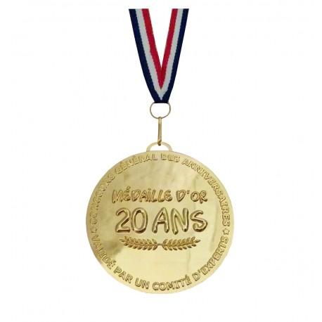 Médaille d'or 20 ans