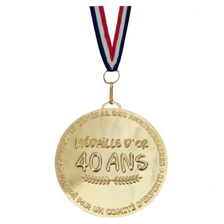 Médaille d'or 40 ans