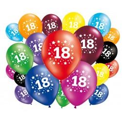 Lot de 20 ballons anniversaire 18 ans