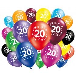 Lot de 20 ballons anniversaire 20 ans