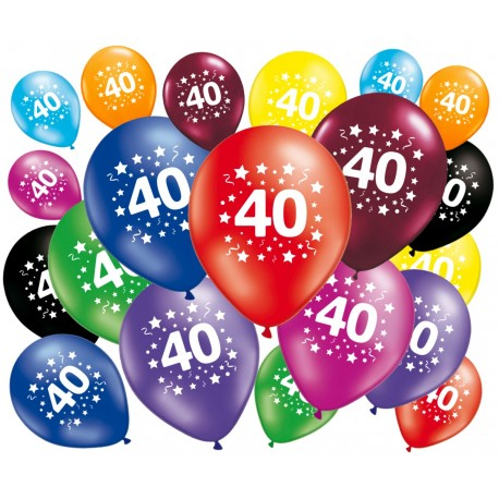 ballons 40 ans anniversaire. Black Bedroom Furniture Sets. Home Design Ideas