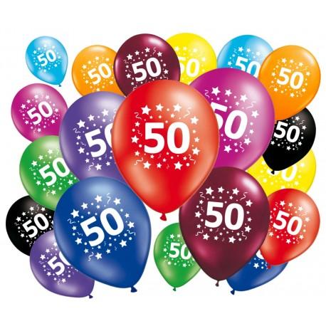 Lot de 20 ballons anniversaire 50 ans