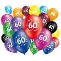 Lot de 20 ballons anniversaire 60 ans