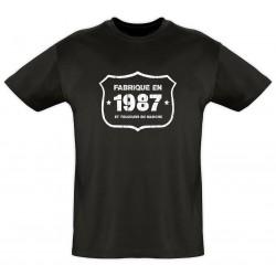 Tee shirt - Fab 1987 - Coton bio - Homme