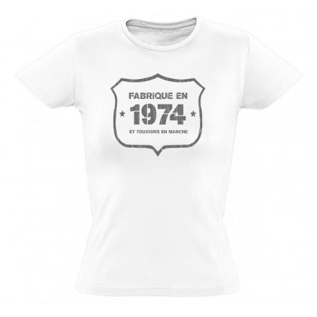 tee shirt fab 1974 coton bio femme. Black Bedroom Furniture Sets. Home Design Ideas