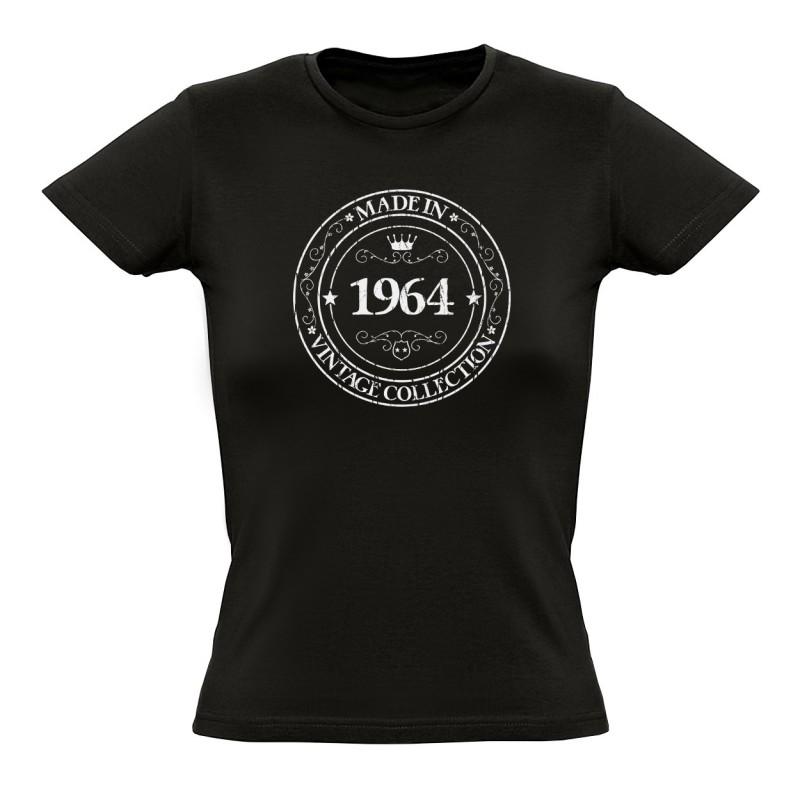 tee shirt made in 1964 coton bio femme. Black Bedroom Furniture Sets. Home Design Ideas