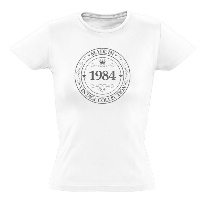 tee shirt made in 1984 coton bio femme. Black Bedroom Furniture Sets. Home Design Ideas