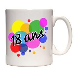 Mug anniversaire 18 ans