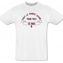 Tee shirt 18 ans à dédicacer + Feutre textile