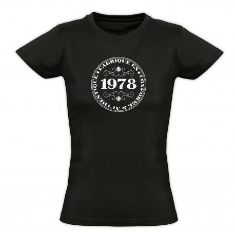 Tee shirt vintage - Fabriqué en 1978 Conforme & Authentique - Femme