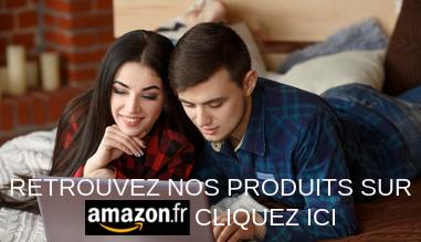 Retrouvez nos produits sur Amazon